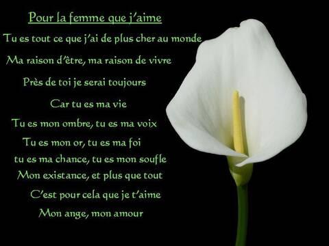 Un Petit Poème Pour La Femme Que Jaime De La Part De Josiane