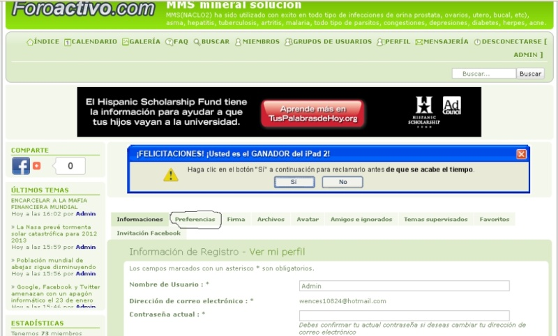 a todos los usuarios que se inscrivieron antes del 3 de enero del 2012 Dibujo11