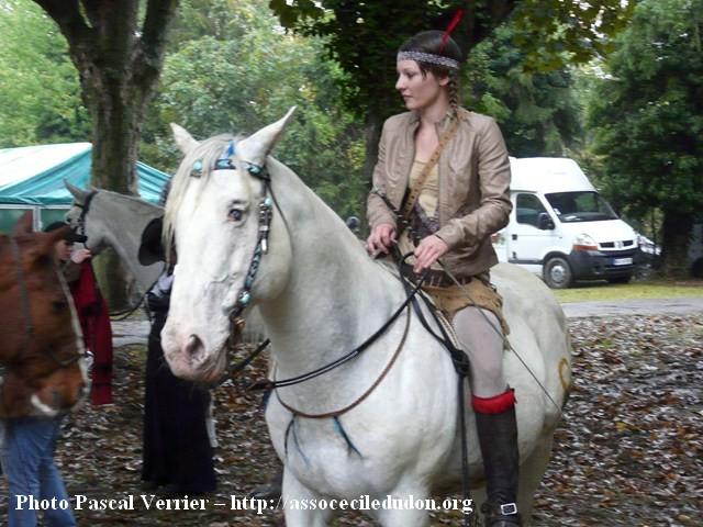 Ma démonstration au Festival du Cheval 2011 avec Texas P1060913