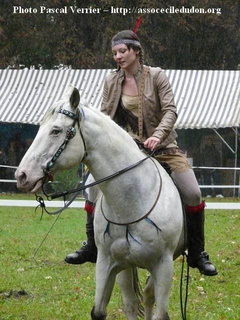 Ma démonstration au Festival du Cheval 2011 avec Texas P1060922
