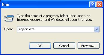 不用任何软件或下载就能转换你的 Windows Service Pack (Windows XP) Regedi11