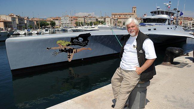 Paul Watson (capitaine du Brigitte Bardot) sur Canal ce soir 41107110