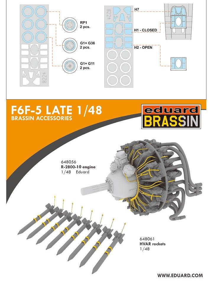 F6F-5 HELLCAT eduard 1/48 10182614