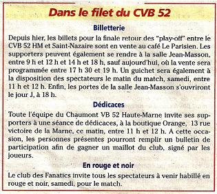 Play-off final retour CVB52 / SAINT-NAZAIRE VBA 00910