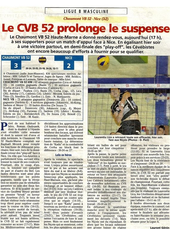 Play-off, demi-final retour CVB52HM / NICE VB - Page 3 Articl12