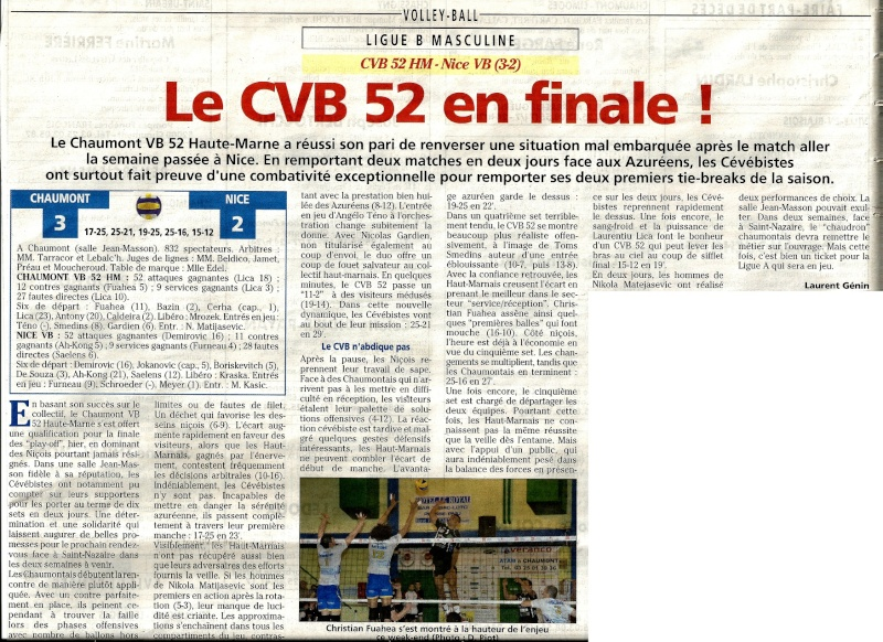 Play-off, demi-final retour CVB52HM / NICE VB - Page 3 Articl13