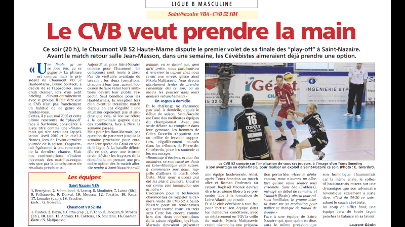 Play-off final aller SAINT-NAZAIRE VBA / CVB52 HM - Page 4 B110