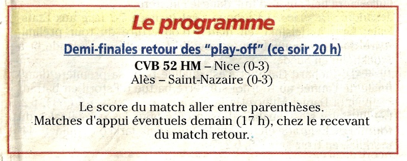 Play-off, demi-final retour CVB52HM / NICE VB - Page 3 Progra10