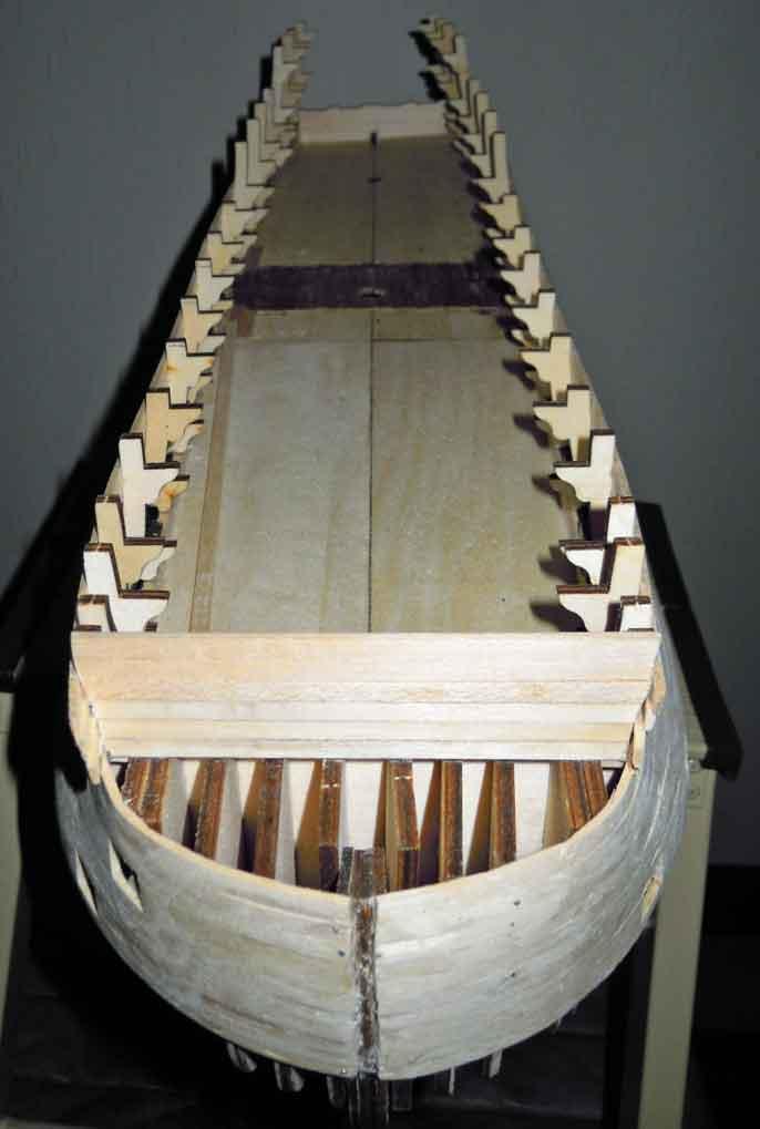 Nikolaus' Baubericht der HMS VICTORY Rumpf016
