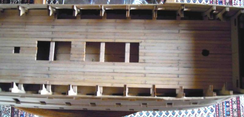Nikolaus' Baubericht der HMS VICTORY Rumpf018