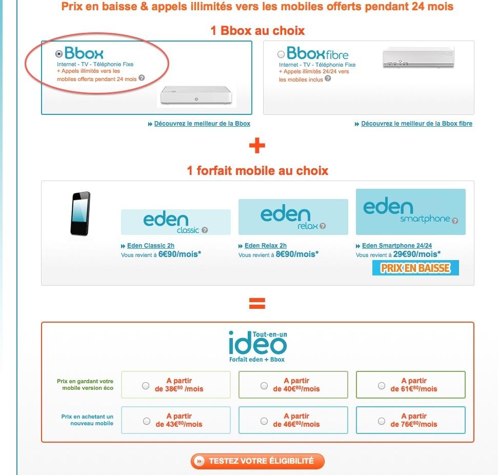 Idéo ADSL : Appels illimités BBox vers mobiles offerts pendant 24 mois Ok11