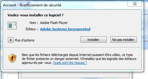 Comment empêcher le message de Flash Player ? [RESOLU] Flash10