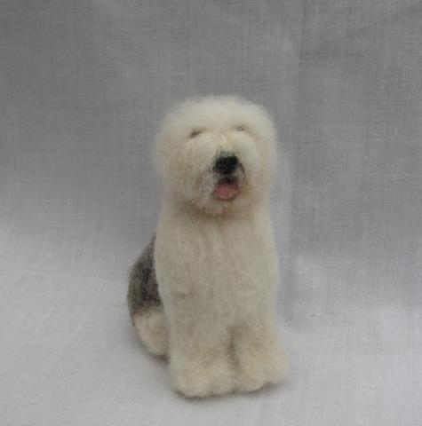 Needle felted Old English Sheepdog Pic03910
