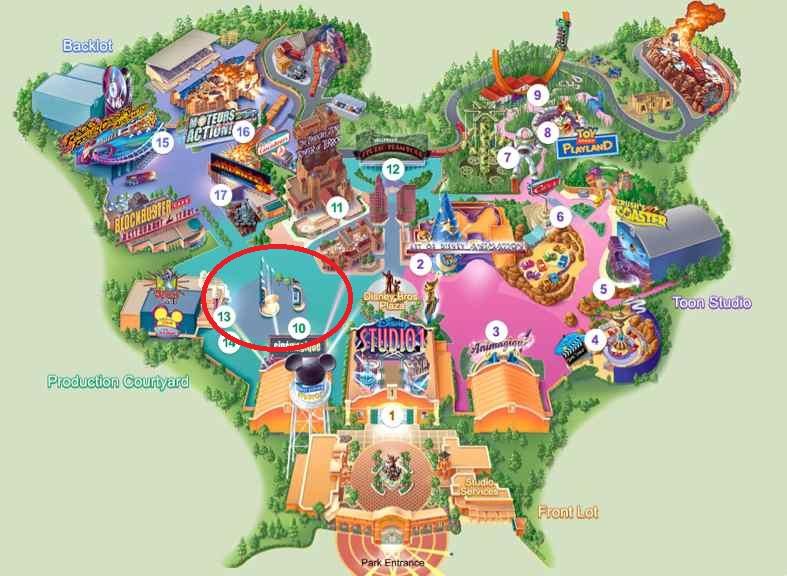 Empreintes de célébrités au Parc Walt Disney Studios ? Plan-p10