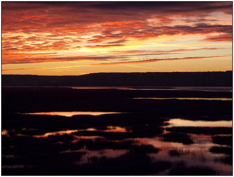 Lever sur les marais ce matin... Lever010