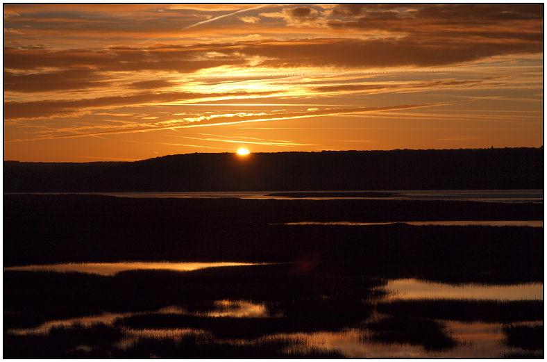 Lever sur les marais ce matin... Lever011