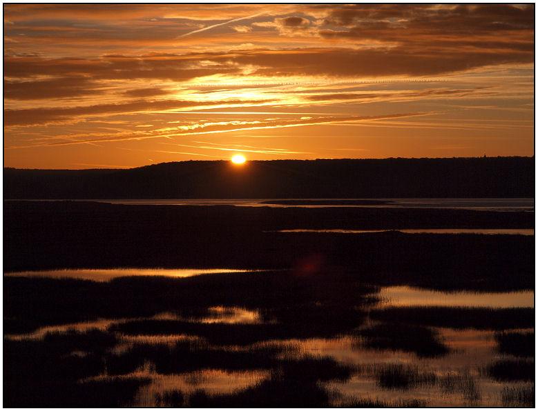 Lever sur les marais ce matin... Lever012