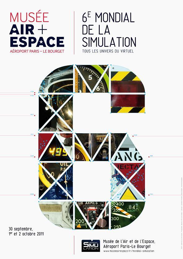 Mondial de la Simulation (au Musée de l'Air et de l'Espace du 30 septembre au 2 octobre 2011) Affich10