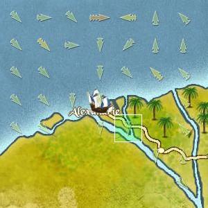Expédition du Mistral vers Alexandrie - Oct. 1460] Journal de Bord du Cap'taine Oxalys Arrive12