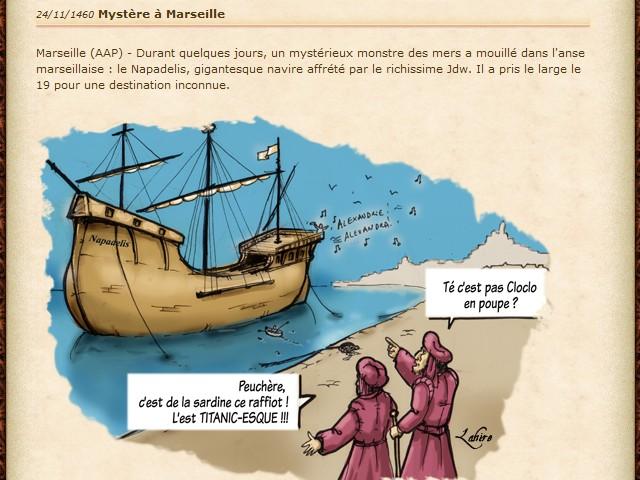 Expédition du Mistral vers Alexandrie - Oct. 1460] Journal de Bord du Cap'taine Oxalys Napade10