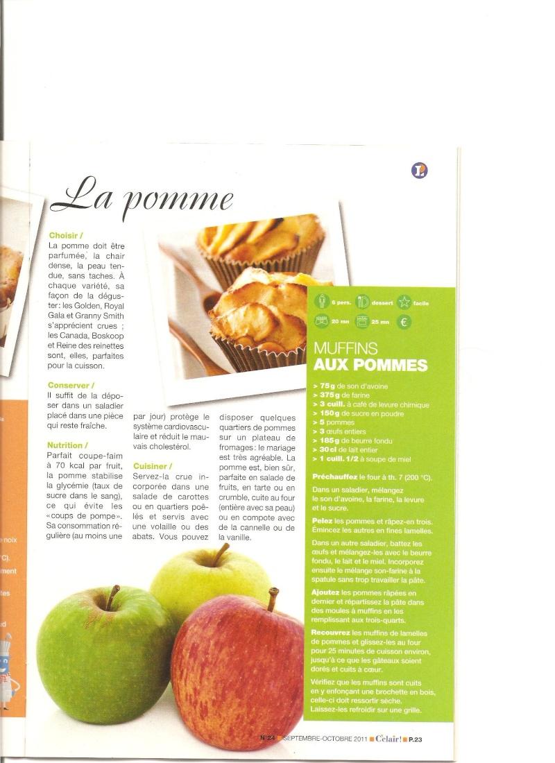 Muffins aux pommes et au son d'avoine 00119