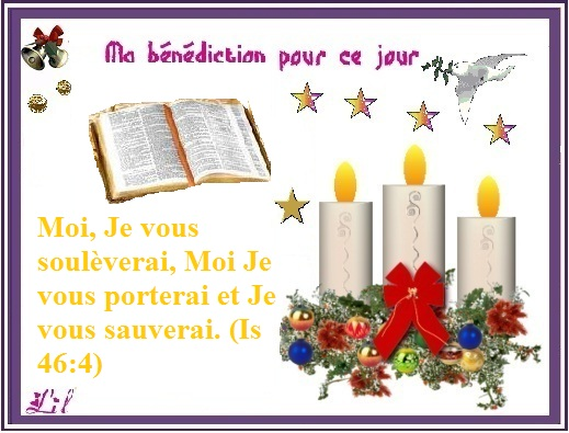 Bonjour à tous Dieu nous bénit en ce 17 Déc : Voici venir des jours de justice et de paix. Banadi14