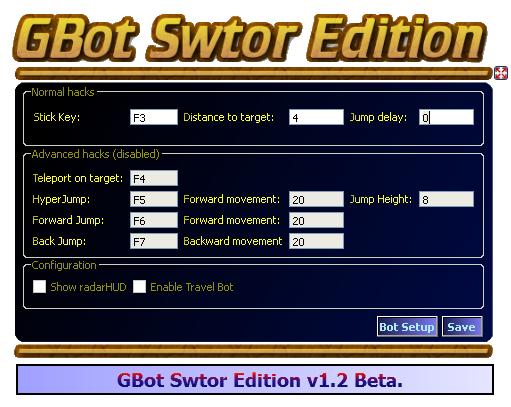 GBot Swtor Edition v1.3.0 Beta Gbot110