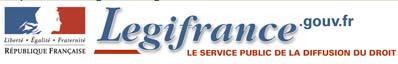 La législation Française (lois, règlements, jurisprudence, Journal Officiel) Sauveg12