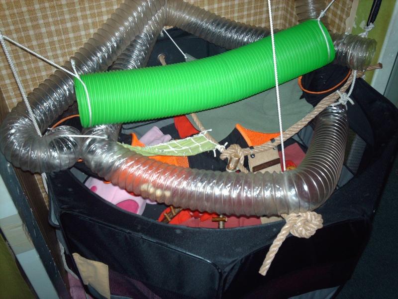 Enclos en nylon reconverti en aire de jeu ( photos ) - Page 5 Imag0912