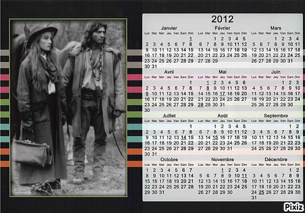 CALENDRIERS 2012 Cal20110