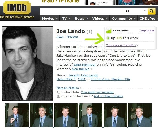 Fiche IMDb de Joe Imdb11