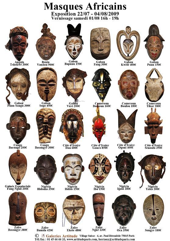 """AVERTISSEMENT : """"Le danger de conserver des masques africains chez soi"""" ! 20090810"""