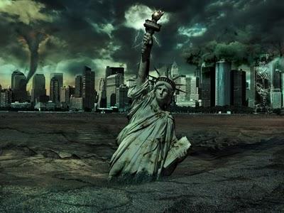 New York et ses envirions étaient complètement submergés! Statue10
