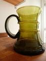 Green hooped bubble glass tankard - Scandi? Tankar10