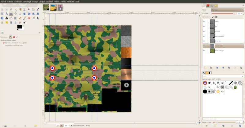 Créer une livrée camouflage toute simple avec Gimp Les_co10