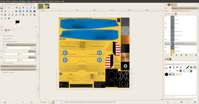Créer une livrée camouflage toute simple avec Gimp Salect11