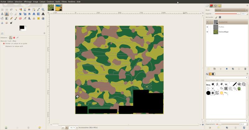 Créer une livrée camouflage toute simple avec Gimp Salect12