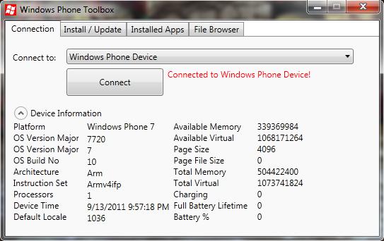 [INFO MANGO] Windows Phone Power Tools : Add-Ons WindowsPhone SDK 7.1 RC Accuei10