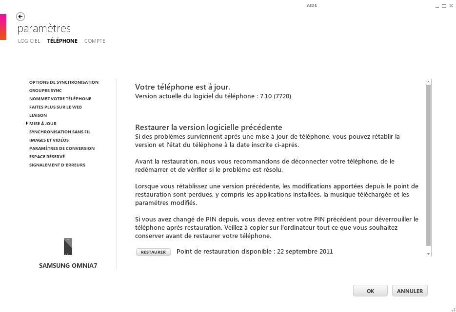 [TUTO] Windows Phone 7 Backup : Créer un backup de votre WP7 à tout moment Backup12