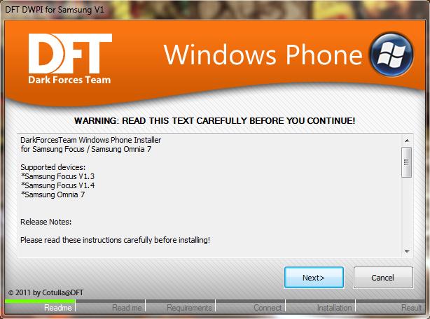 [TUTO] Flasher le Samsung Omnia 7 avec une Custom ROM Dftsam11