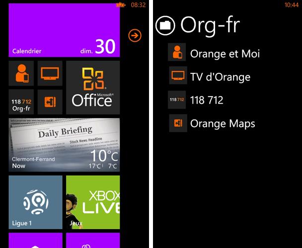 [SOFT MANGO][XAP] Folders for Windows Phone Mango : Créer Des dossiers d'applications Orange10