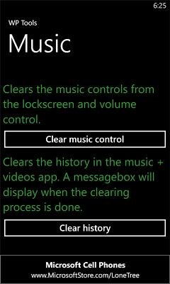 [SOFT] WP Tools : Effacer la musique en cours et l'historique des lectures dans Zune [Gratuit] Wp_too10