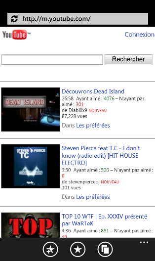 [INFO MANGO]Youtube : importante optimisation pour WP7 Youtub10