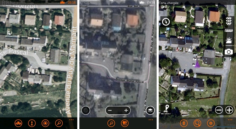 [INFO] Comparaisons Applications : Cartes, NokiaMaps & gMaps Pro Zoomco10