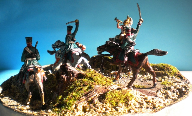 la charge : DRAGONS.CAVALERIE LEGERE PRUSSIENNE 02921