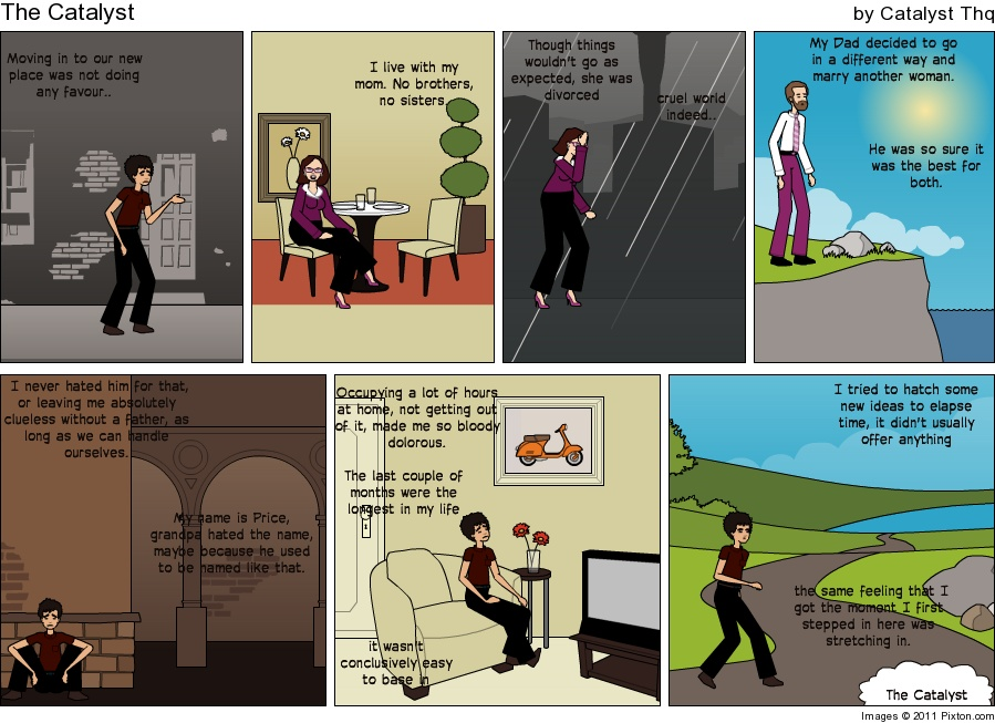 Make an in sync story, the comic work. Pixton10