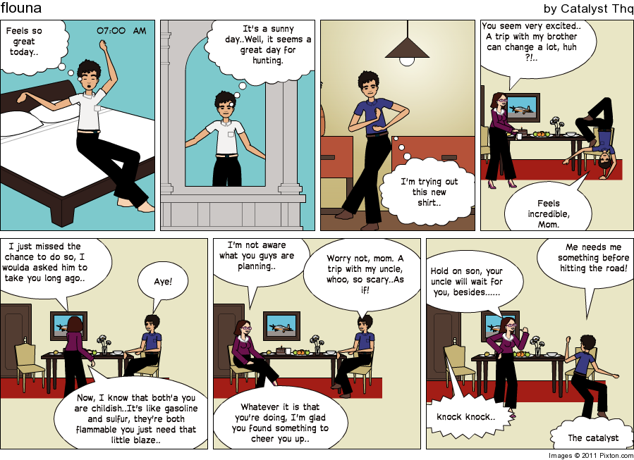 Make an in sync story, the comic work. Pixton11