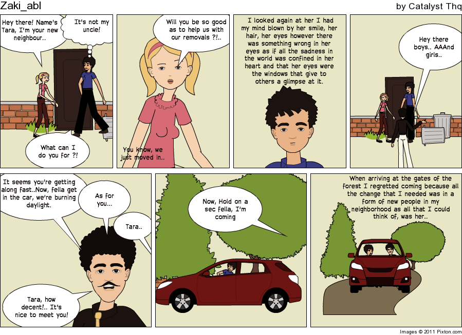 Make an in sync story, the comic work. Pixton12