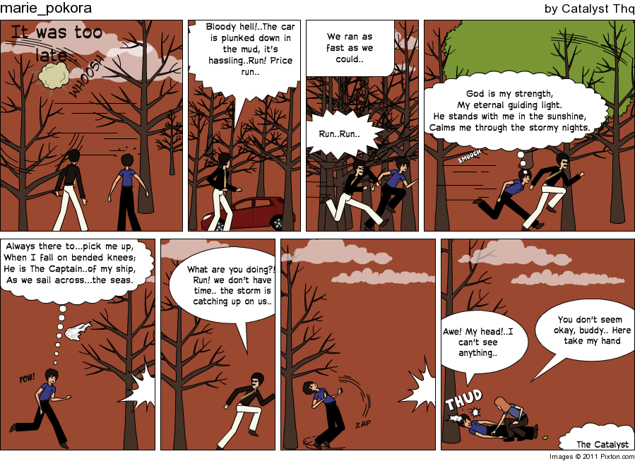 Make an in sync story, the comic work. Pixton13