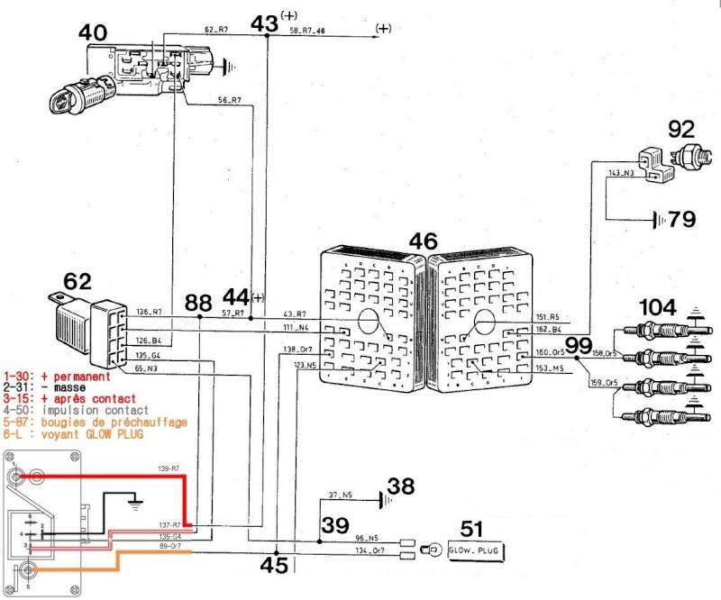 Remplacement prechauffage sur CJ7 Precha18